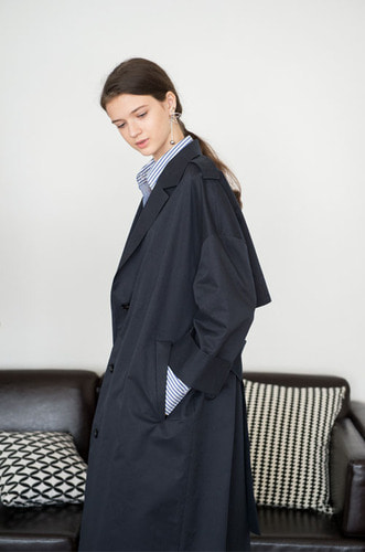 OVER_STRIGHT TRENCH COAT [NY]