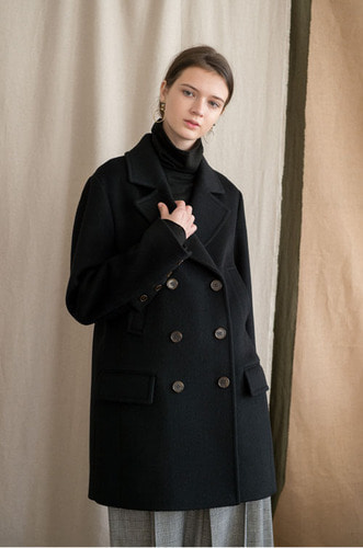 H_LINE TAILORED COAT[BK]